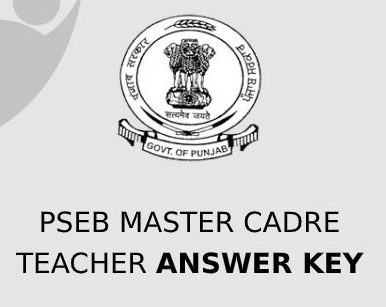 PSEB Master Cadre Teacher Answer Key 2021