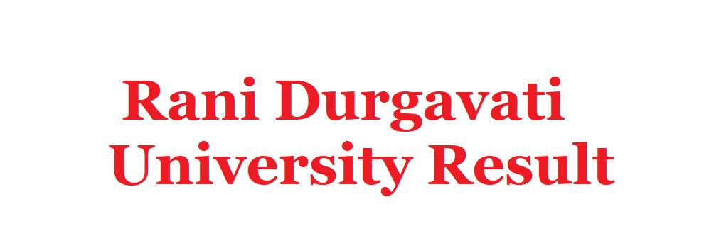 Rani Durgavati University Result 2020