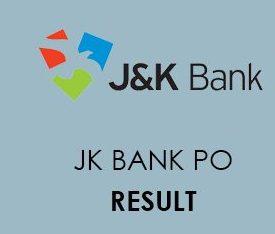 JK Bank PO Result 2020