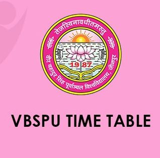 VBSPU Time Table 2020