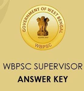 WBPSC Supervisor Mains Answer Key 2020
