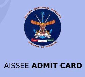 AISSEE Admit card 2021