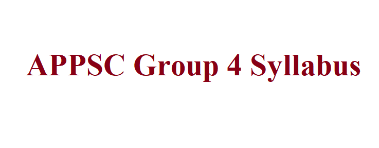 APPSC Group 4 Syllabus 2021