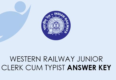 Western Railway Junior Assistant Typist Answer Key 2021