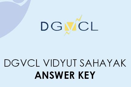 DGVCL Vidyut Sahayak Answer Key 2021