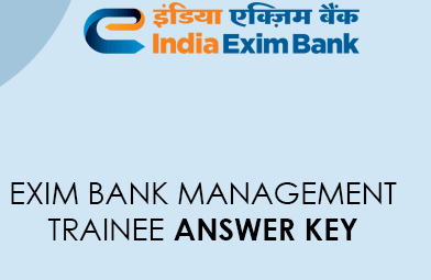 Exim Bank Management Trainee Answer Key 2021