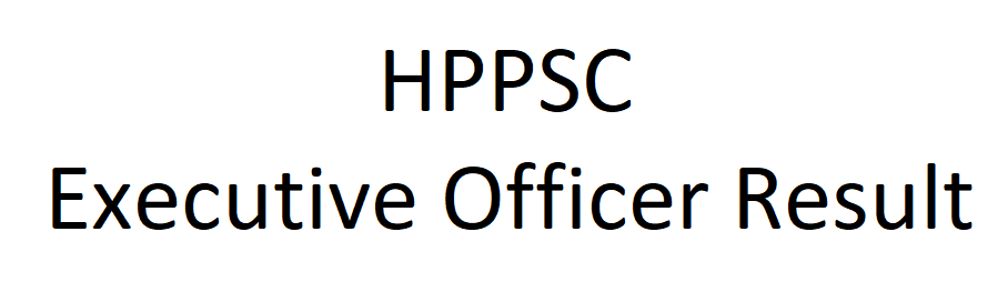 HPPSC Executive Officer Exam Result 2020