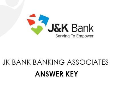 JK Bank Banking Associates Answer Key 2021