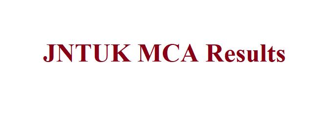 JNTUK MCA Result 2021