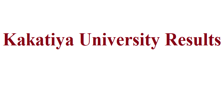 Kakatiya University Result 2021