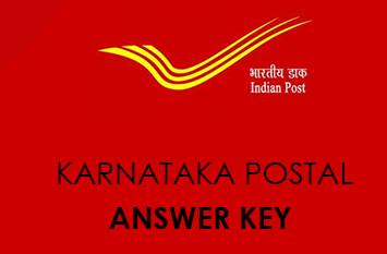 Karnataka Postal Assistant Answer Key 2021