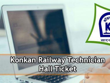 Konkan Railway Technician Hall Ticket 2021