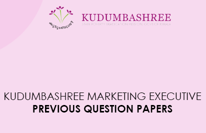 Kudumbashree Marketing Executive Previous Question Papers