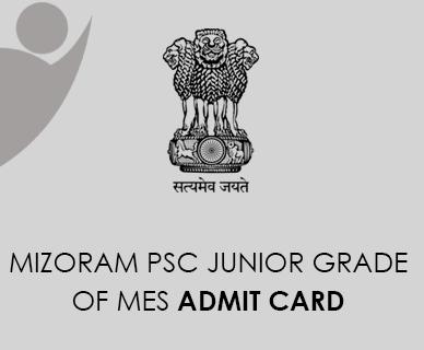 Mizoram PSC Junior Grade Admit Card 2021