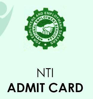NTI Admit card 2021