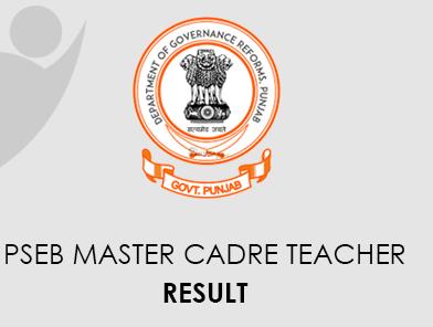 PSEB Master Cadre Teacher Result 2021