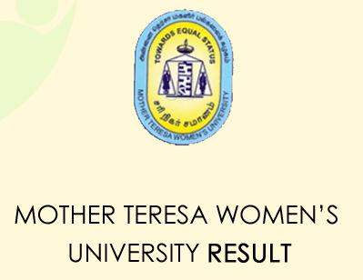 Mother Teresa Women's University Result 2021