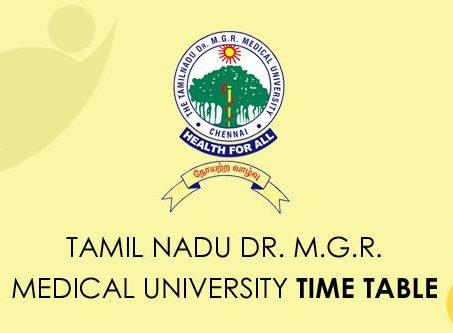 TNMGRMU Time Table 2021
