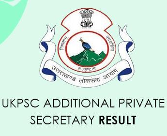 UKPSC Private Secretary Additional Result 2021