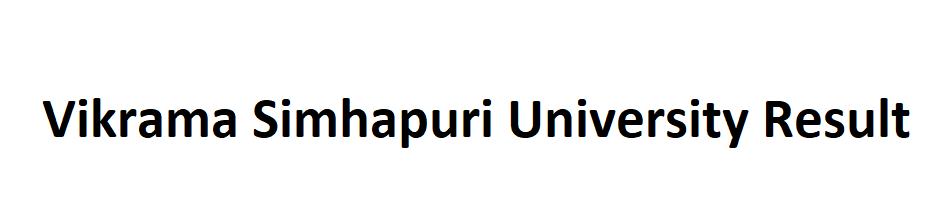Vikrama Simhapuri University Result 2021