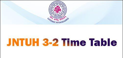 JNTUH 3-2 Time Table 2021