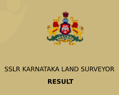 SSLR Karnataka Land Surveyor Result 2021