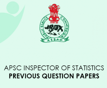 APSC Statistics Inspector Previous Question Papers