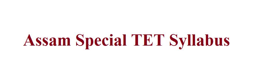 Assam Special TET Syllabus 2021