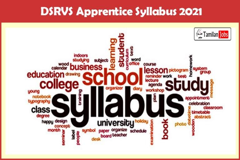DSRVS Apprentice Syllabus 2021