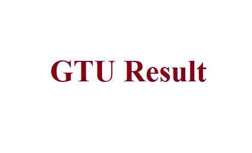 GTU Result 2021