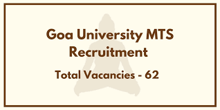 Goa University MTS Recruitment 2021