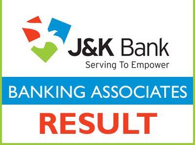 JK Bank Banking Associates Result 2021