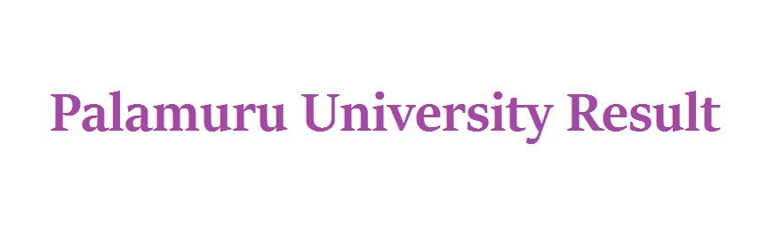 Palamuru University Result 2021