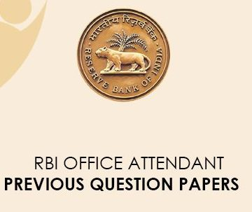 RBI Office Assistant Previous Question Papers