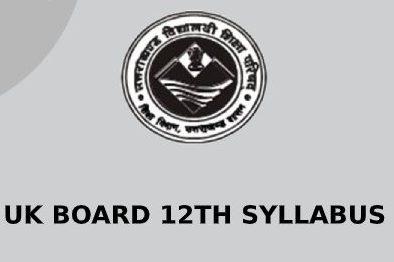 Uttarakhand Board 12th Syllabus 2021
