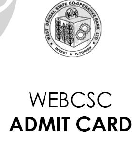 WEBCSC Admit Card 2021