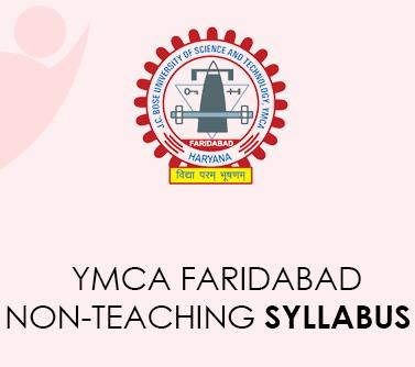 YMCA Faridabad Nonteaching Syllabus 2021