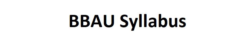 BBAU Syllabus 2021