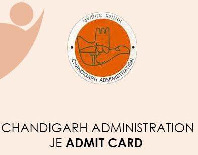 Chandigarh Administration JE Admit Card 2021