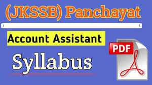 JKSSB Account Assistant Syllabus 2021