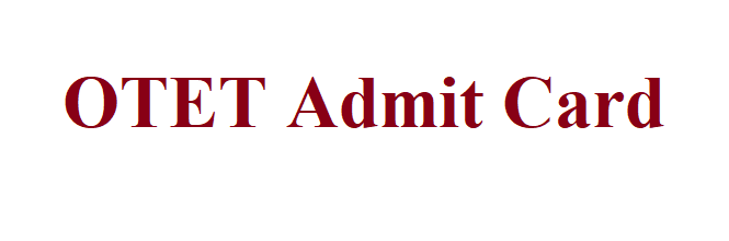 Odisha TET Admit Card 2021