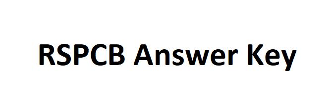 RSPCB Answer Key 2021