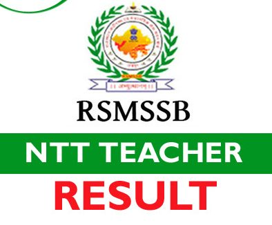 RSMSSB NTT Teacher Result 2021