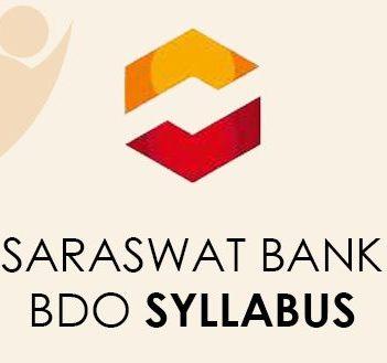 Saraswat Bank BDO Syllabus 2021