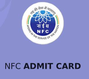 NFC Stipendiary Apprentice Admit Card 2021