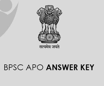 BPSC APO Answer Key 2021