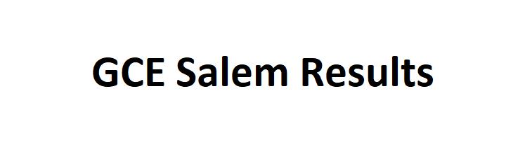 GCE Salem Result 2021