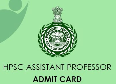 HPSC Assistant Professor Admit Card 2021