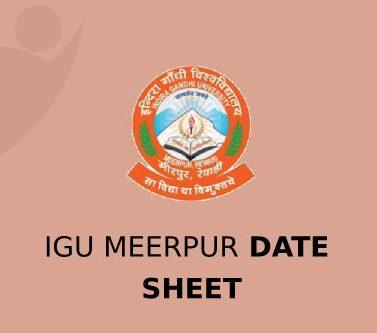 IGU Meerpur Date Sheet 2021