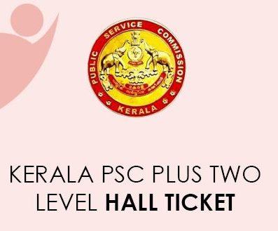 Kerala PSC Plus Tier 2 Hall Ticket 2021